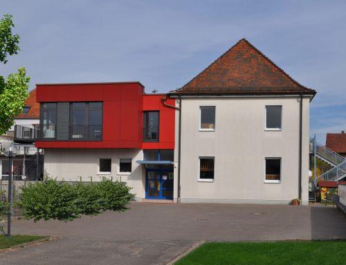 """Aufstockung Kinderkrippe am Kindergarten """"Villa Kunterbunt"""" Kleinwallstadt, 2015"""